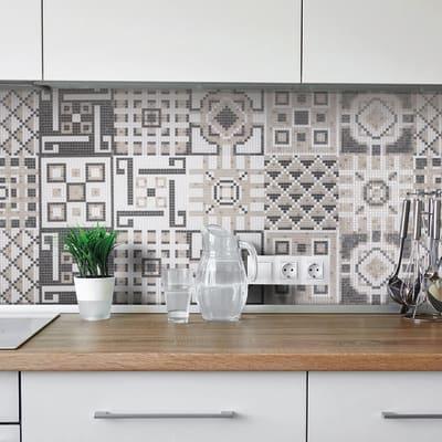 Mosaico Cement Beige H 59 x L 178 cm beige/bianco