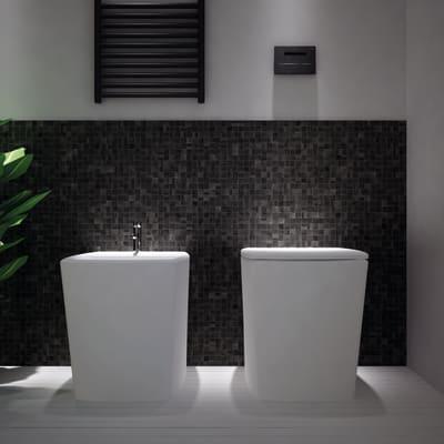 Mosaico Licorice20 H 31.8 x L 31.8 cm nero
