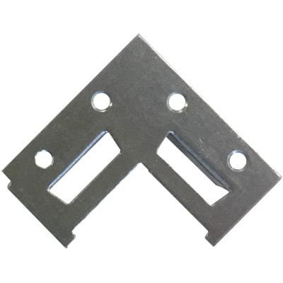 Attaccaglia fissa alluminio 2 pezzi