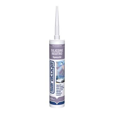 Silicone SARATOGA Vetri e Specchi trasparente 280 ml