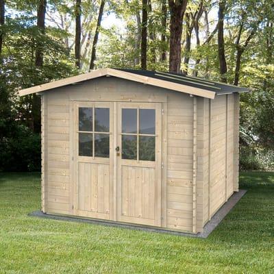 Casetta da giardino in legno Lory,  superficie interna 5.76 m² e spessore parete 25 mm