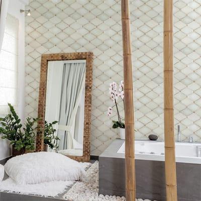 Mosaico H 30 x L 27.5 cm bianco/beige