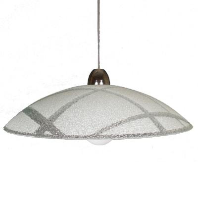 Lampadario Design Arwen bianco in vetro, 3 luci