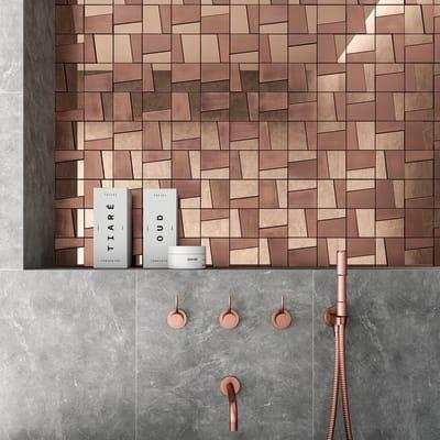 Mosaico H 29.5 x L 29.5 cm marrone/rame
