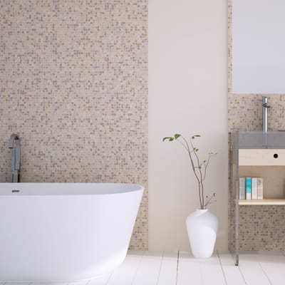 Mosaico H 30.5 x L 30.5 cm beige/ocra
