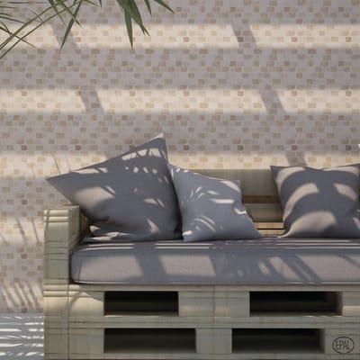 Mosaico H 30 x L 30 cm beige/marrone