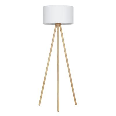Lampada da terra Brilloner bianco, in plastica, H140cm,