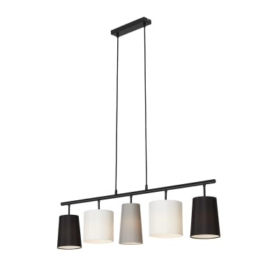 Lampadario Moderno Shades nero , 5 luci