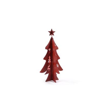 Albero rosso L 34 H 70 cm
