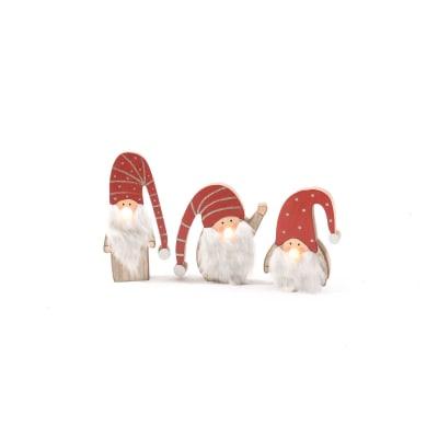 Babbo natale rosso L 13 H 15 cm
