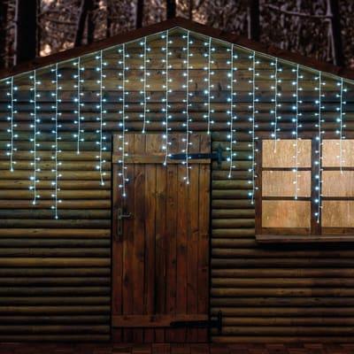 Tenda luminosa 500 lampadine led bianco caldo H 100 x L 400 cm