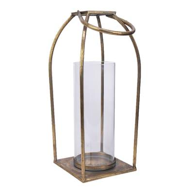 Lanterna in ferro oro H 37 cm,Ø 15 cm