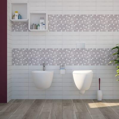 Mosaico H 30 x L 30 cm grigio/argento