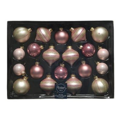 Sfera natalizia in vetro Ø 6 cm confezione da 20 pezzi