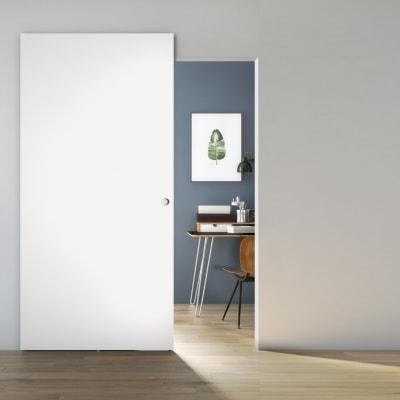 Porta scorrevole con binario esterno Space Matrix Tda in legno laccato Binario nascosto L 101 x H 230 cm sx