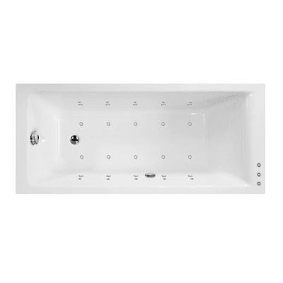 Vasca idromassaggio rettangolare bianco ,170, 75 cm, 16 bocchette, SENSEA