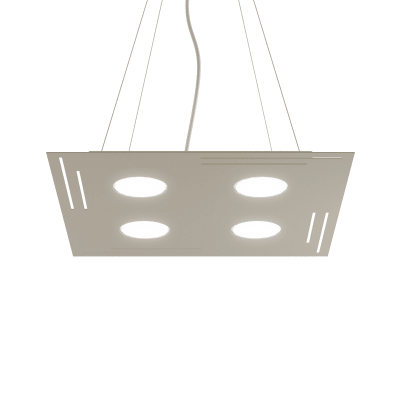 Lampadario Design Square sabbia in vetro, 3 luci