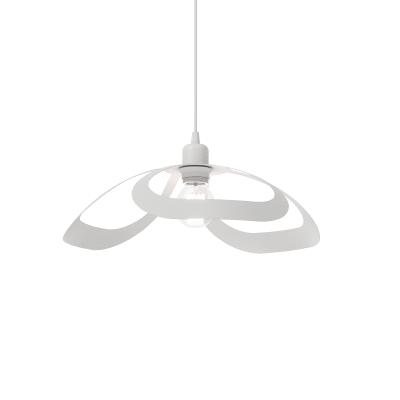 Lampadario Design Arac bianco in vetro