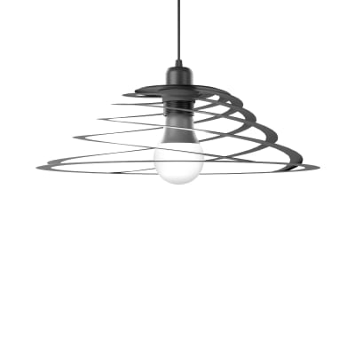 Lampadario Design Spyro1 antracite in vetro