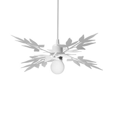 Lampadario Design Birdie bianco in vetro