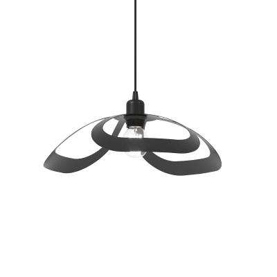 Lampadario Design Arac antracite in vetro, 2 luci