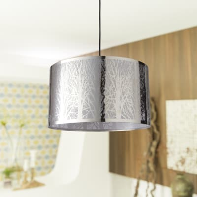 Lampadario Moderno Forest bianco in ferro, D. 40 cm, L. 40 cm, 3 luci, INSPIRE