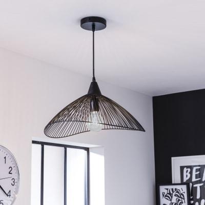 Lampadario Design Kasteli nero in metallo, D. 46 cm, SEYNAVE