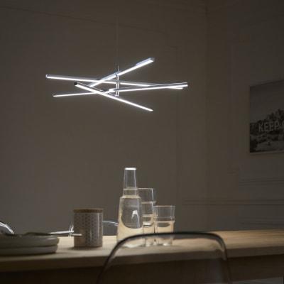 Lampadario Moderno Concord LED integrato cromo, in metallo, D. 60 cm, L. 60 cm, 4 luci, INSPIRE