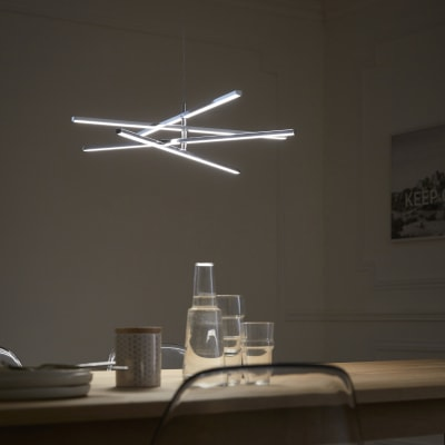 Lampadario Moderno Concord LED integrato cromo, in metallo, D. 60 cm, L. 60.0 cm, 4 luci, INSPIRE
