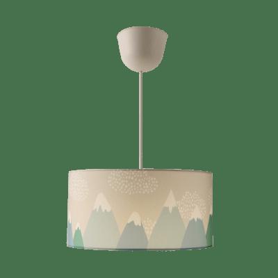 Lampadario Pop Hill blu in tessuto, D. 35 cm, L. 100 cm, INSPIRE