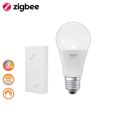 Lampadina smart lighting LED, E27, Goccia, Opaco, RGB, 60W=810LM (equiv 60 W), 360° , LEDVANCE