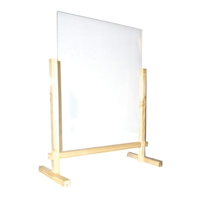 Schermo di protezione plexiglass trasparente 56 cm x 70 cm, Sp 30 mm