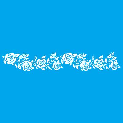 Stencil tema frutti e fiori Rose 15 x 70 cm