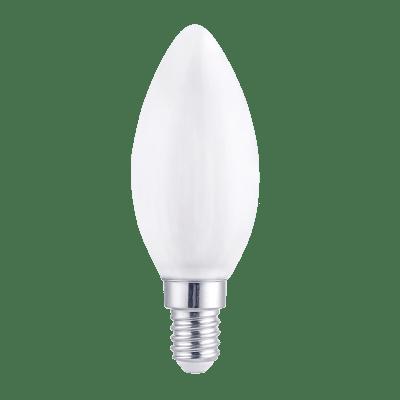 Lampadina LED filamento, E14, Oliva, Opaco, Luce calda, 6W=806LM (equiv 60 W), 360° , LEXMAN