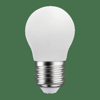Lampadina LED filamento E27, Sferico, Opaco, Bianco, Luce calda, 4.5W=470LM (equiv 40 W), 360° , LEXMAN