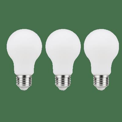 Set di 3  lampadine LED filamento, E27, Goccia, Opaco, Luce naturale, 7.5W=806LM (equiv 60 W), 360° , LEXMAN