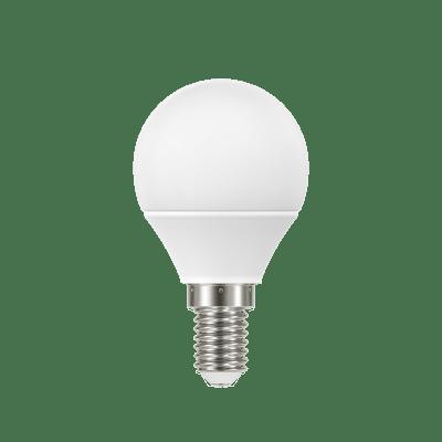 Lampadina LED, E14, Sferico, Smerigliato, Luce calda, 5W=470LM (equiv 40 W), 220° , LEXMAN