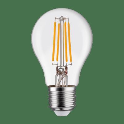 Lampadina LED filamento, E27, Goccia, Trasparente, Luce calda, 6W=806LM (equiv 60 W), 360° , LEXMAN