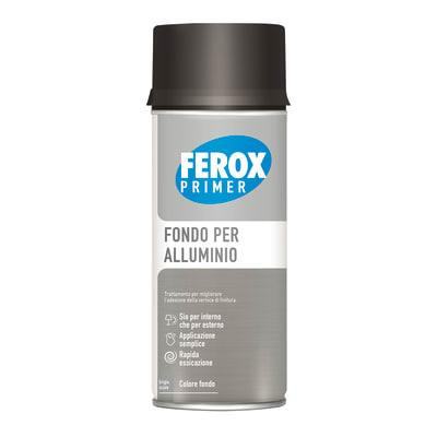 Fondo spray Ferox fondo aggrappante alluminio grigio scuro 0.4 L