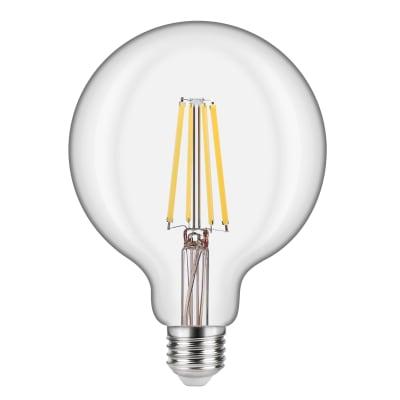 Lampadina LED filamento, E27, Globo, Trasparente, Luce naturale, 10.5W=1521LM (equiv 100 W), 360° , LEXMAN