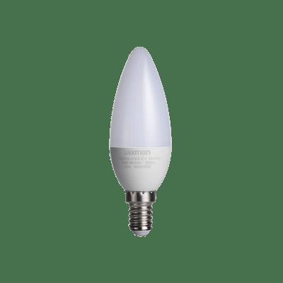 Lampadina LED, E14, Oliva, Smerigliato, Luce calda, 5W=470LM (equiv 40 W), 300° , LEXMAN