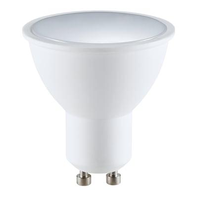 Lampadina smart lighting LED GU10, Faretto,  diffusore Opaco, col.luce Variazione dei bianchi e colori cangianti, Luce CCT e RGB, 5.5W=400LM (equiv 5,5 W), 120°