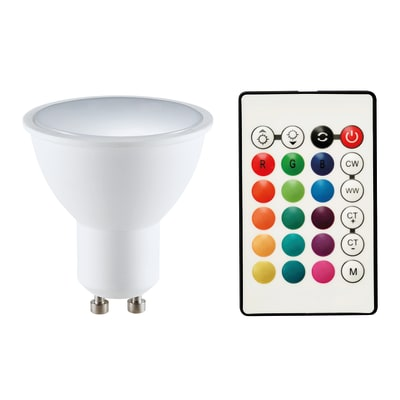 Lampadina smart lighting LED, GU10, Faretto, Opaco, RGB, 5.5W=400LM (equiv 5,5 W), 120°
