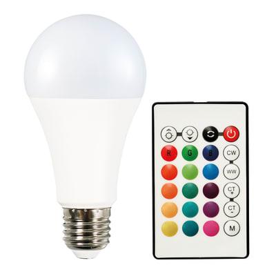 Lampadina smart lighting LED, E27, Goccia, Opaco, Luce CCT e RGB, 11W=1050LM (equiv 11 W), 200°