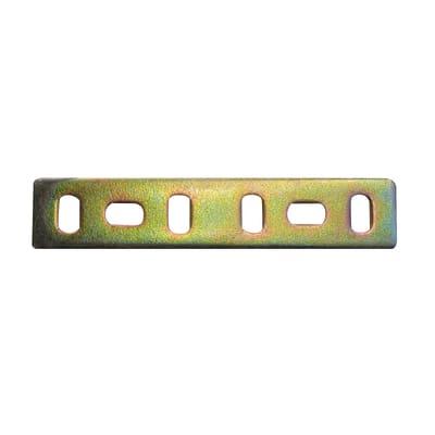 Piastra dritta standers in acciaio zincato L 80 x Sp 2 x H 20 mm