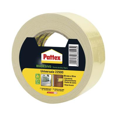 Nastro bi-adesivo PATTEX Universale 25 m x 50 mm bianco