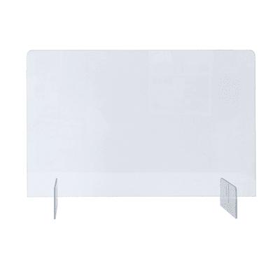 Schermo di protezione polistirene trasparente 80 cm x 65 cm, Sp 5 mm