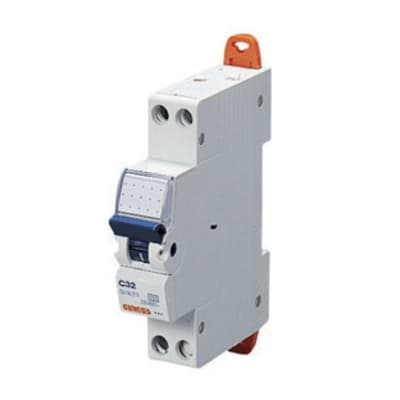 Interruttore magnetotermico GEWISS GW90025 1P +N 6A C 1 modulo 230V