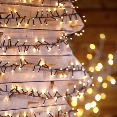 Catena luminosa 1000 lampadine bianco caldo Led Mini cluster 20.5 m