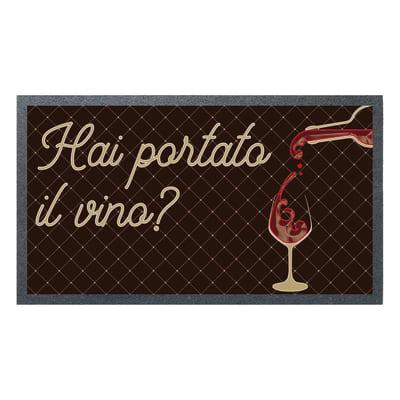 Zerbino Flomat Vino in caucciù multicolore 40x70 cm